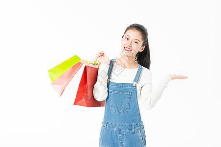 双十一女生购物图片