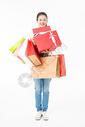 青春大学生购物抱礼盒501037406图片