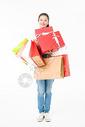 青春大学生购物抱礼盒501037408图片