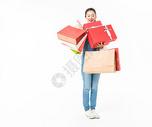 青春大学生购物抱礼盒501037414图片