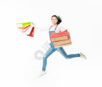 青春大学生购物跳跃501037443图片