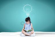 小孩读书图片