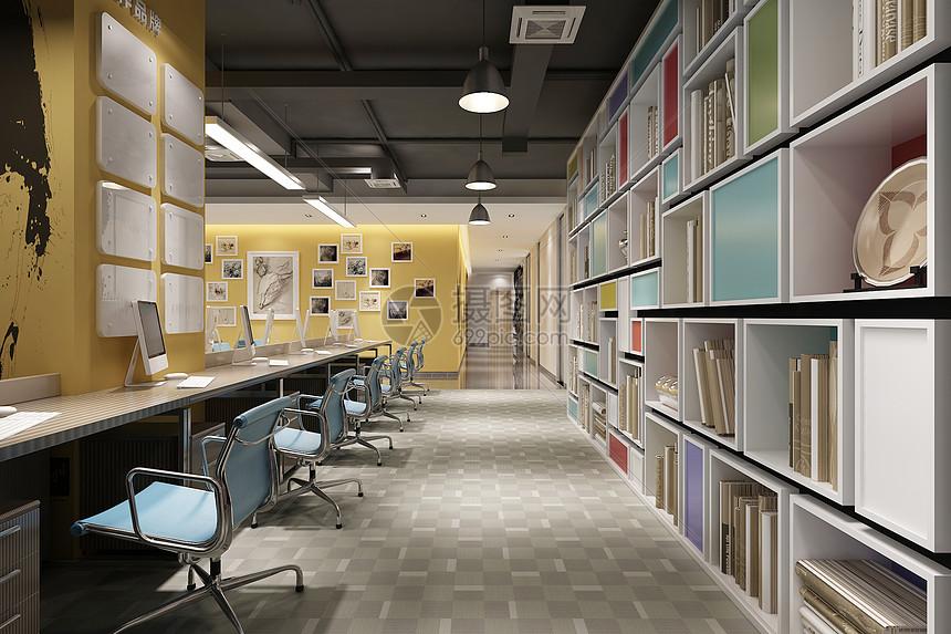 现代办公走廊图片