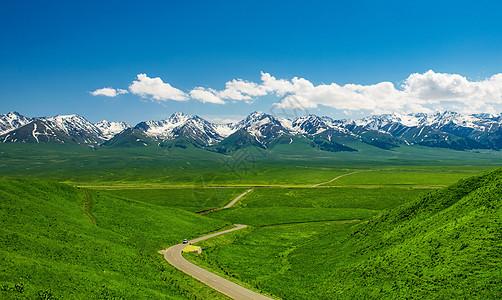 通向雪山的公路图片