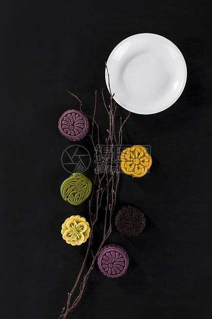 中秋节花式月饼糕点图片