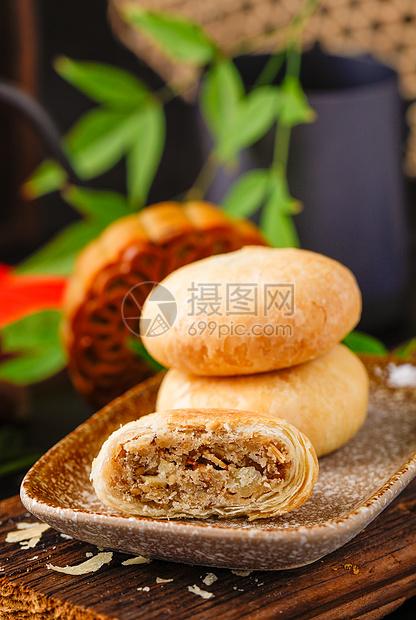 酥皮月饼图片
