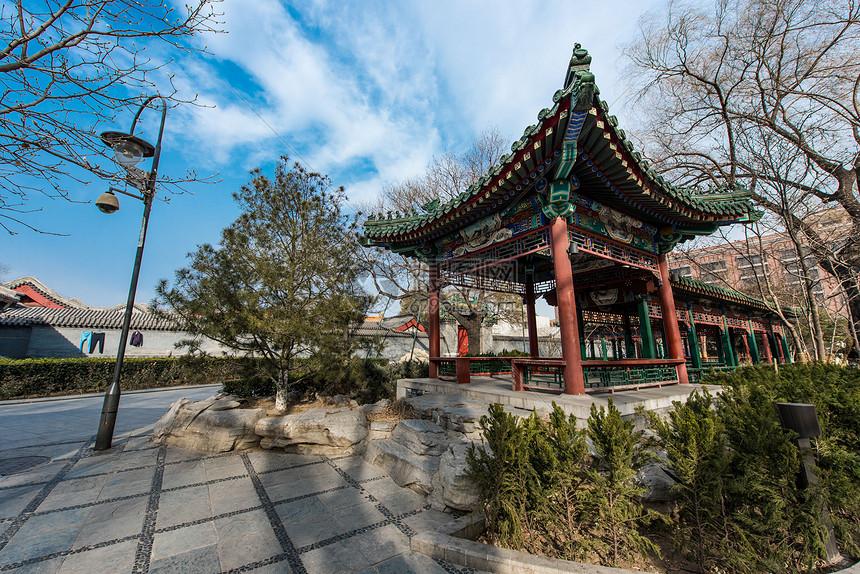 北京菖蒲和公园长廊凉亭图片
