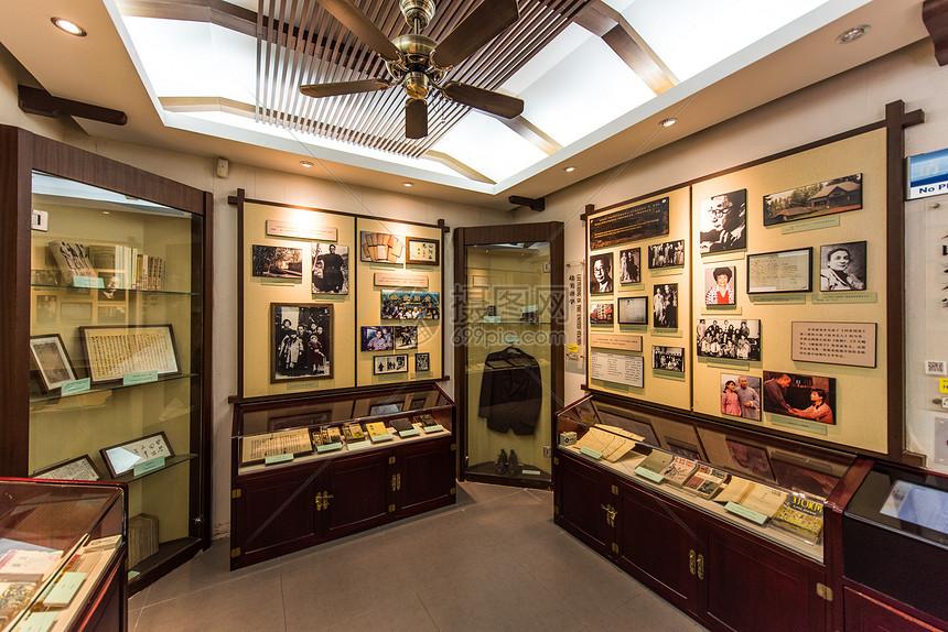 北京老舍故居四合院院内展览图片