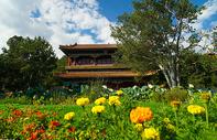 北京夏末初秋的景山公园图片