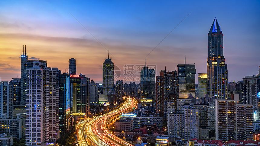 上海城市夜景图片