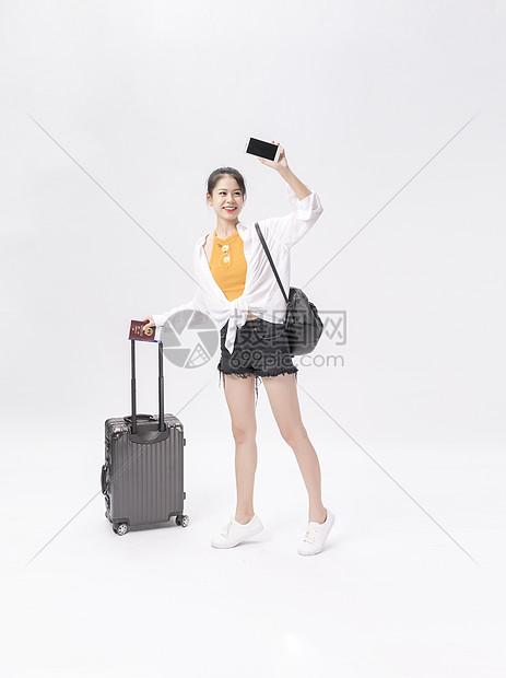 青年旅行白底图图片