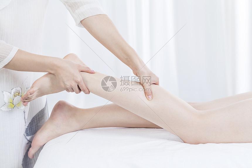 美容养生spa腿部按摩图片