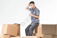 仓储物流男性工作形象图片