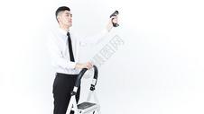 仓储物流男性工作白底图片