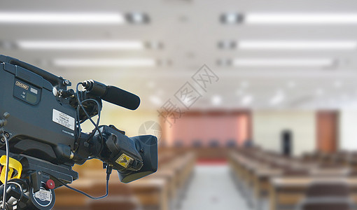 摄像新闻发布会图片