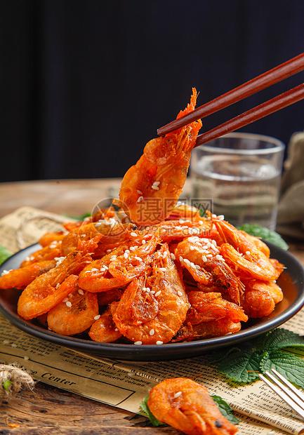 香辣基围虾图片