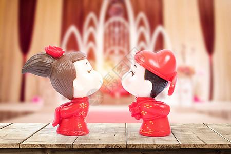 传统结婚卡通形象图片