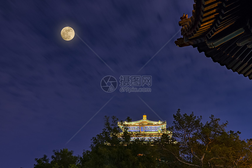 中秋节.景山图片
