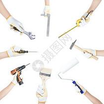 维修施工工具图片