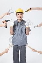 工人工具创意形象图片