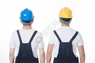工人背影图片