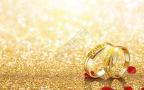 戒指婚礼场景图片