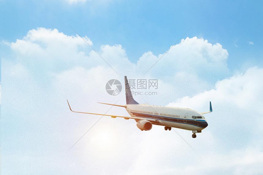 客机飞行图片