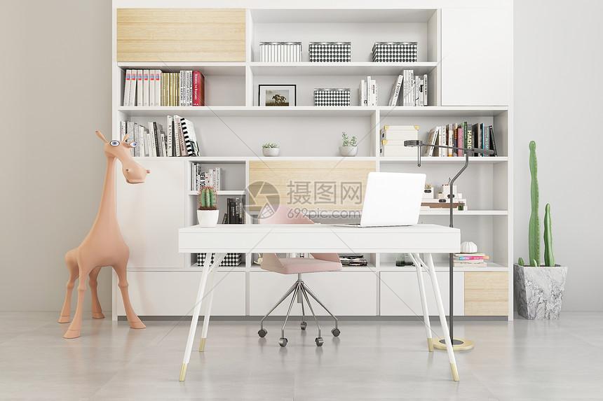 简约书房空间图片