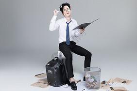 商务职场男性压力图片