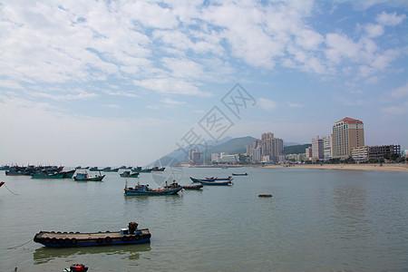 汕头老城港口的渔船图片