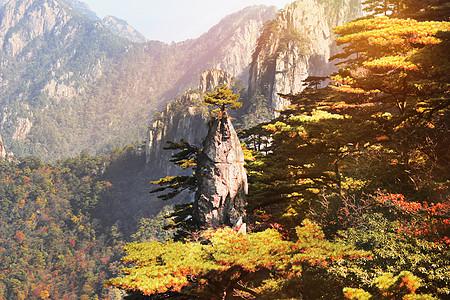 黄山秋天的颜色图片