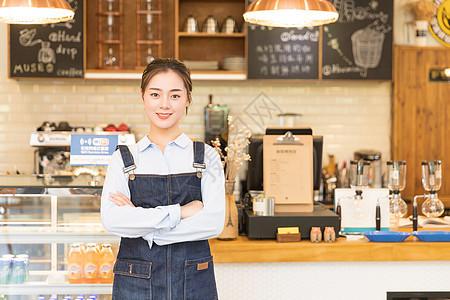 咖啡馆女性服务员图片