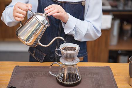 手冲咖啡特写图片