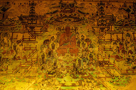 甘肃敦煌博物馆壁画展览图片