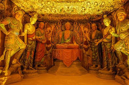 甘肃敦煌博物馆佛像图片