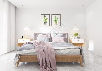 现代简洁风卧室陈列室内设计效果图图片