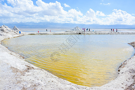 青海省海西蒙古族藏族自治州茶卡盐湖图片