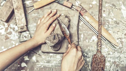 雕塑匠人图片