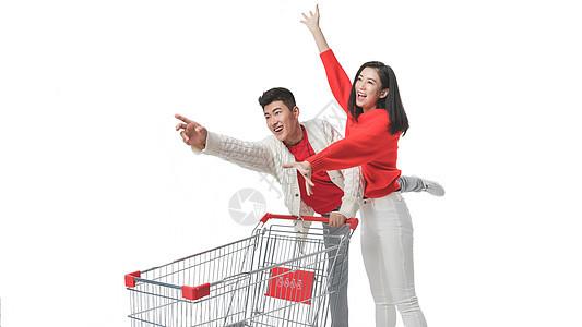情侣新年购物图片
