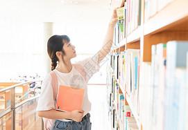 美女图书馆形象图片