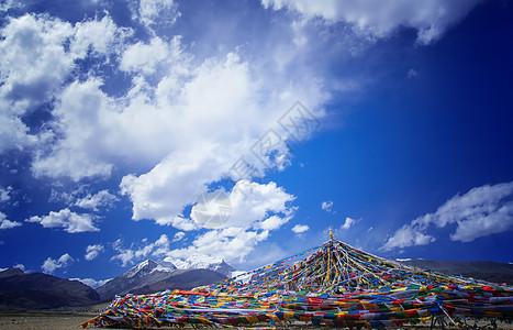西藏拉萨经幡图片