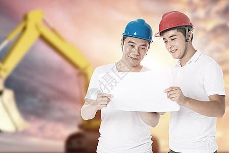 工人讨论图片