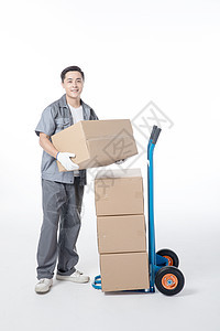 仓储物流工人搬运货物图片