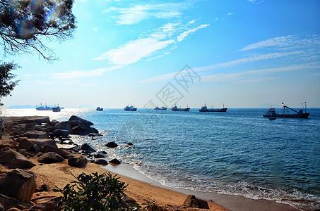 午后伶仃岛的碧海蓝天图片