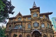 上海马勒别墅晨间的近景图片