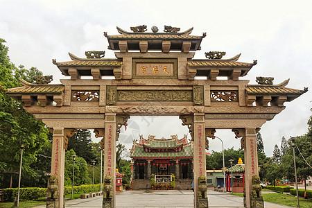 台湾金门天后宫的巍峨牌坊图片
