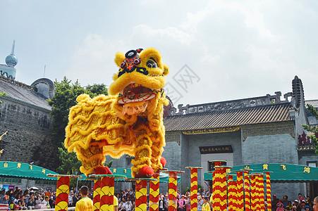 黄飞鸿故居舞狮图片