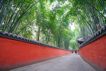 杜甫草堂红墙图片