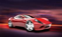 飞速行驶的汽车图片