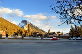 加拿大班夫国家公园雪景图片